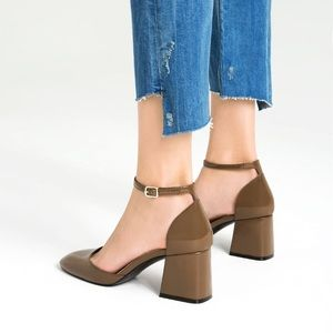 D'orsay shoes with ankle straps